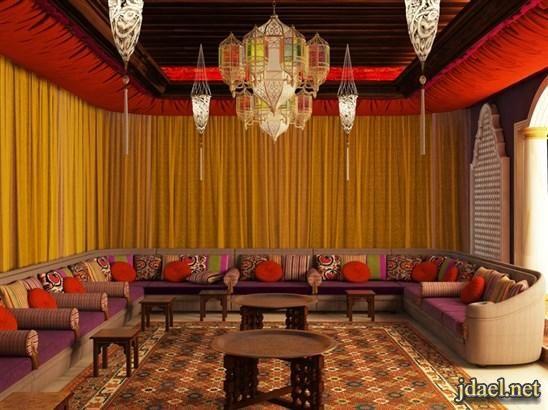 ديكورات مجالس عربية فخمة جبس اضاءة ارضية توزيع الاثات منتدى جدايل Living Room Paint Interior Paint Colors Interior Color Schemes