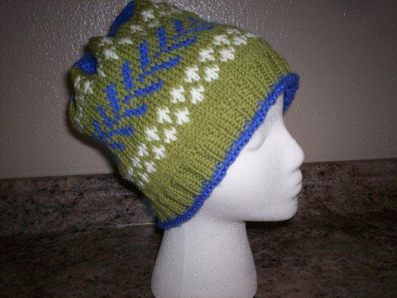 Wool Hat with Fair Isle Pattern - Large Size | Fair isles, Fair ...