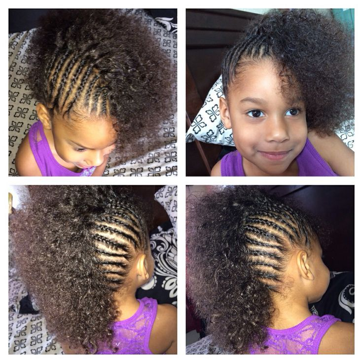 Curly Hairstyle For Toddler : Cornrows mixed girl toddler halfro hairstyles see more about