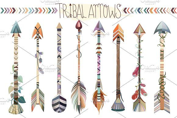 Tribal Arrows Vector Png Jpg Set How To Draw Hands Tribal Arrows Floral Letters