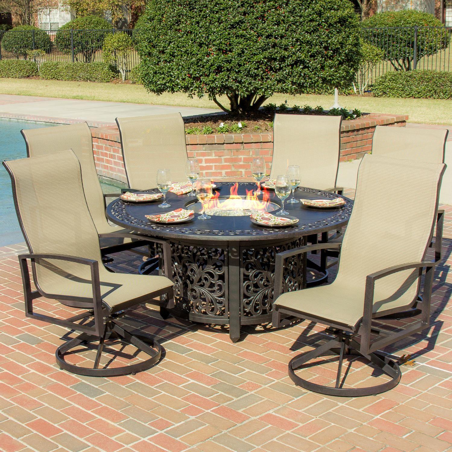 Enticing Outdoor Furniture Patio Dining Set Features Aluminum