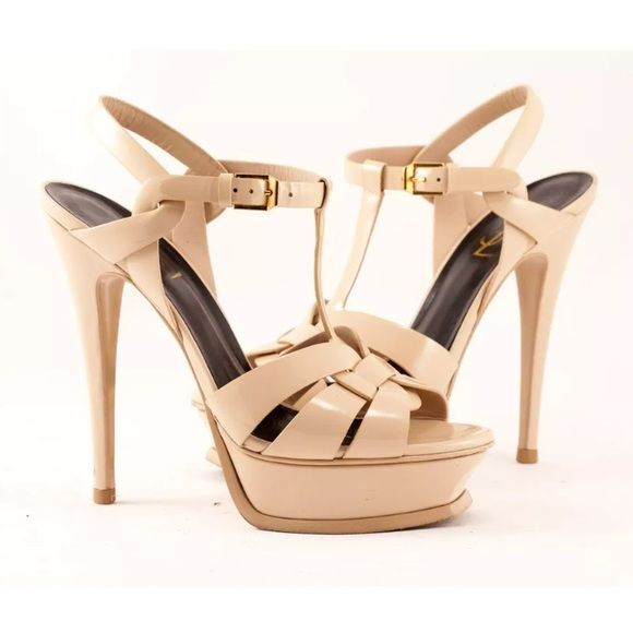 3e8aa9b43a7 YSL tribute nude sandals size 7 Preowned Item. Pics are of the actual  sandals for