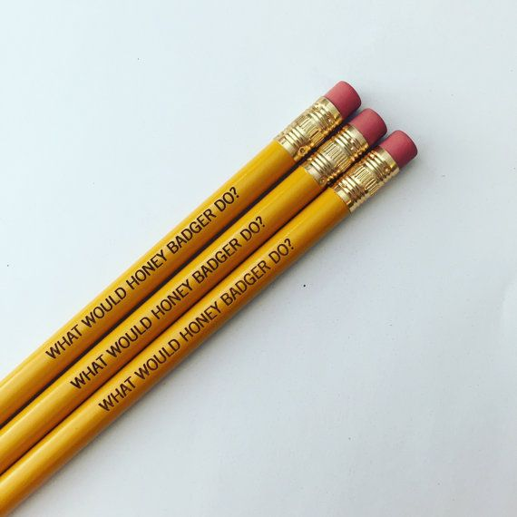 what would honey badger do pencil set 3 three by thecarboncrusader
