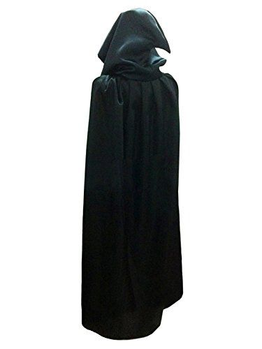 damen herren halloween umhang karneval fasching kost m cape mit kapuze schwarz verkleidungen. Black Bedroom Furniture Sets. Home Design Ideas