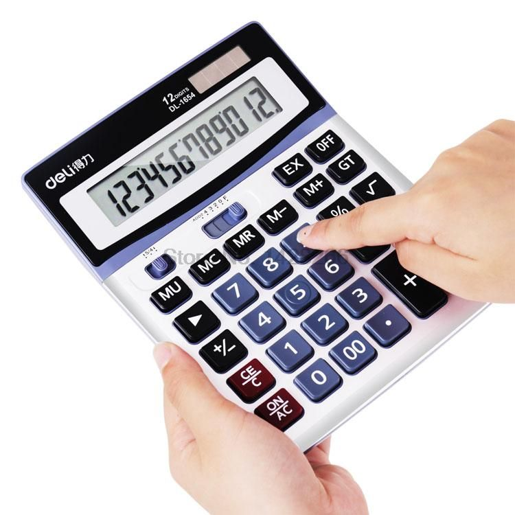 Deli Effective financial accounting calculator solar large buttons - financial calculator