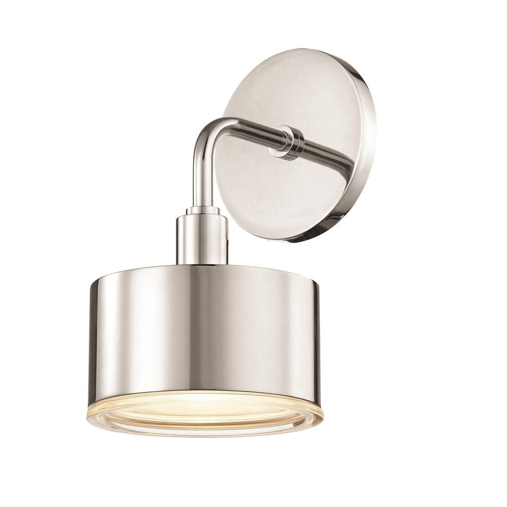 Photo of Mitzi by Hudson Valley Lighting Nora 1-Light Aged Brass LED Wall Sconce H159101-AGB – The Home Depot