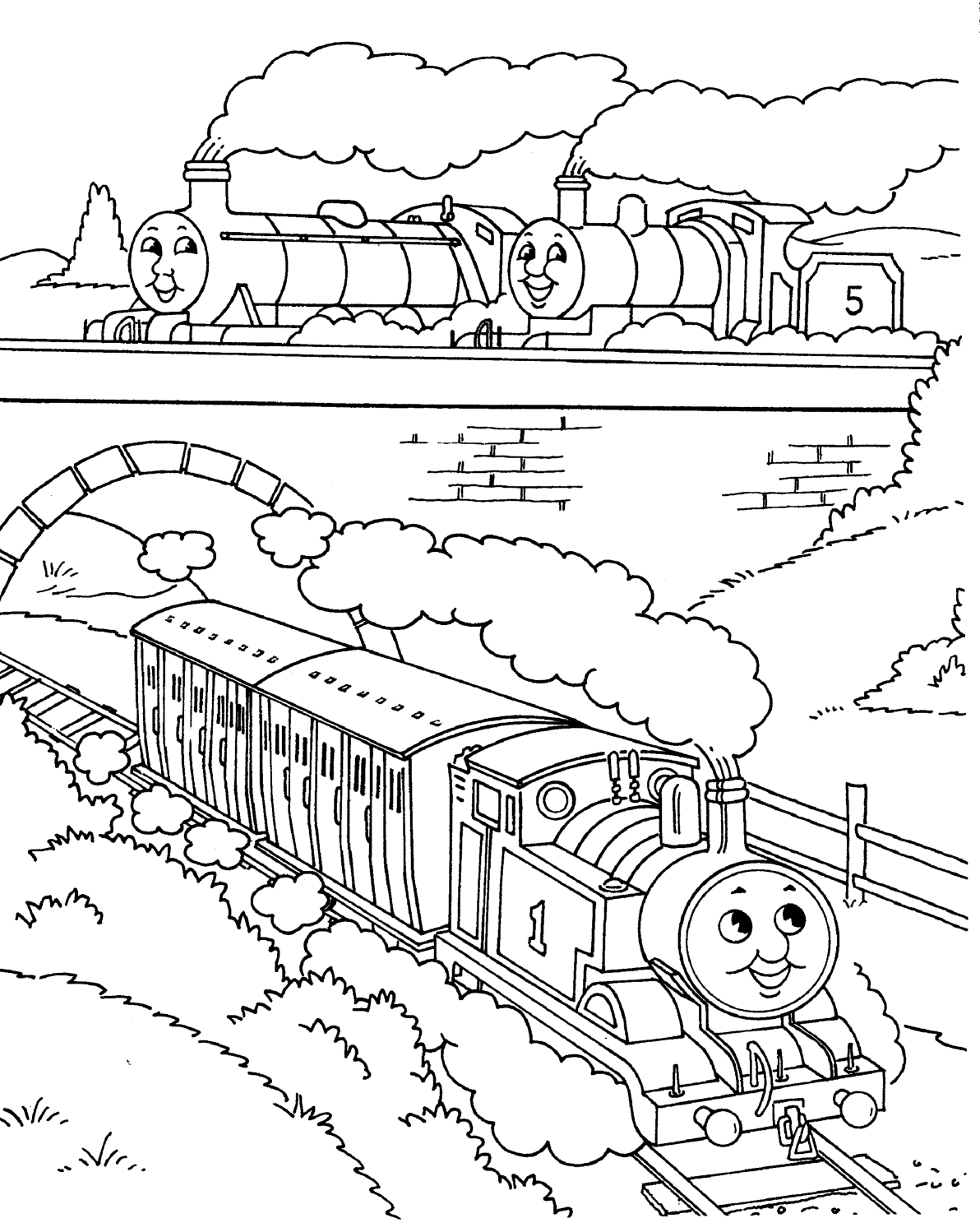 Thomas The Train And His Friends Coloring Pages Thomas The Train Coloring Pages Hunro Col Train Coloring Pages Cartoon Coloring Pages Free Coloring Pages