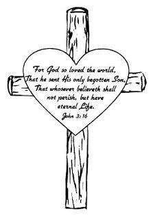 Cross Background Of John 3 16 Bible Verse Coloring Page About