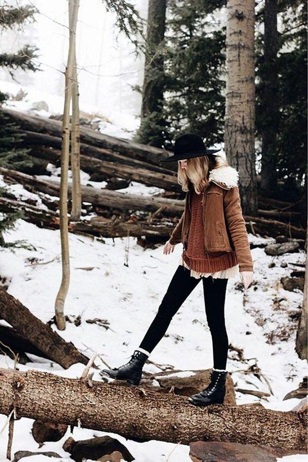 Modern Bohemian Winter Outfits