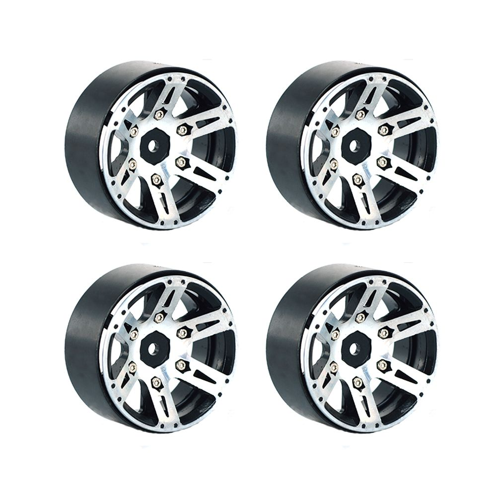 4PCS 1.9/'/' Alloy Beadlock Wheel Rims for SCX10 RC 4WD CC01 D90 1//10 RC Crawler