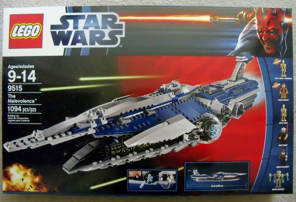 Lego Star Wars 9515 The Malevolence Speed Build