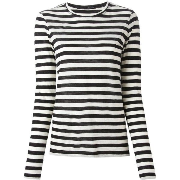 Proenza Schouler striped long-sleeve fitted top For Sale Cheap Price VRzrzPRn4Y