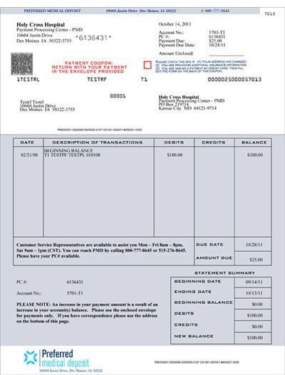 Hospital Billing Statement Sample - Invitation Templates Design - billing statement template