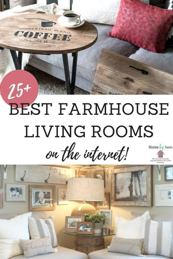 Create a farmhouse living room by adding a little rustic decor.  See over 25 different living rooms to get some farmhouse rustic living room ideas. #farmhouse #farmhousedecor #farmhousestyle #livingroom #homedecor #home #DIY #livingroomdecor #rustic #homedesign #homedesignideas #homedecorideas #decor