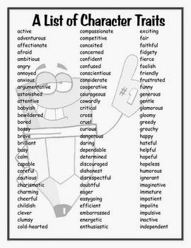 Character Traits, free on TPT. Good list for the upper