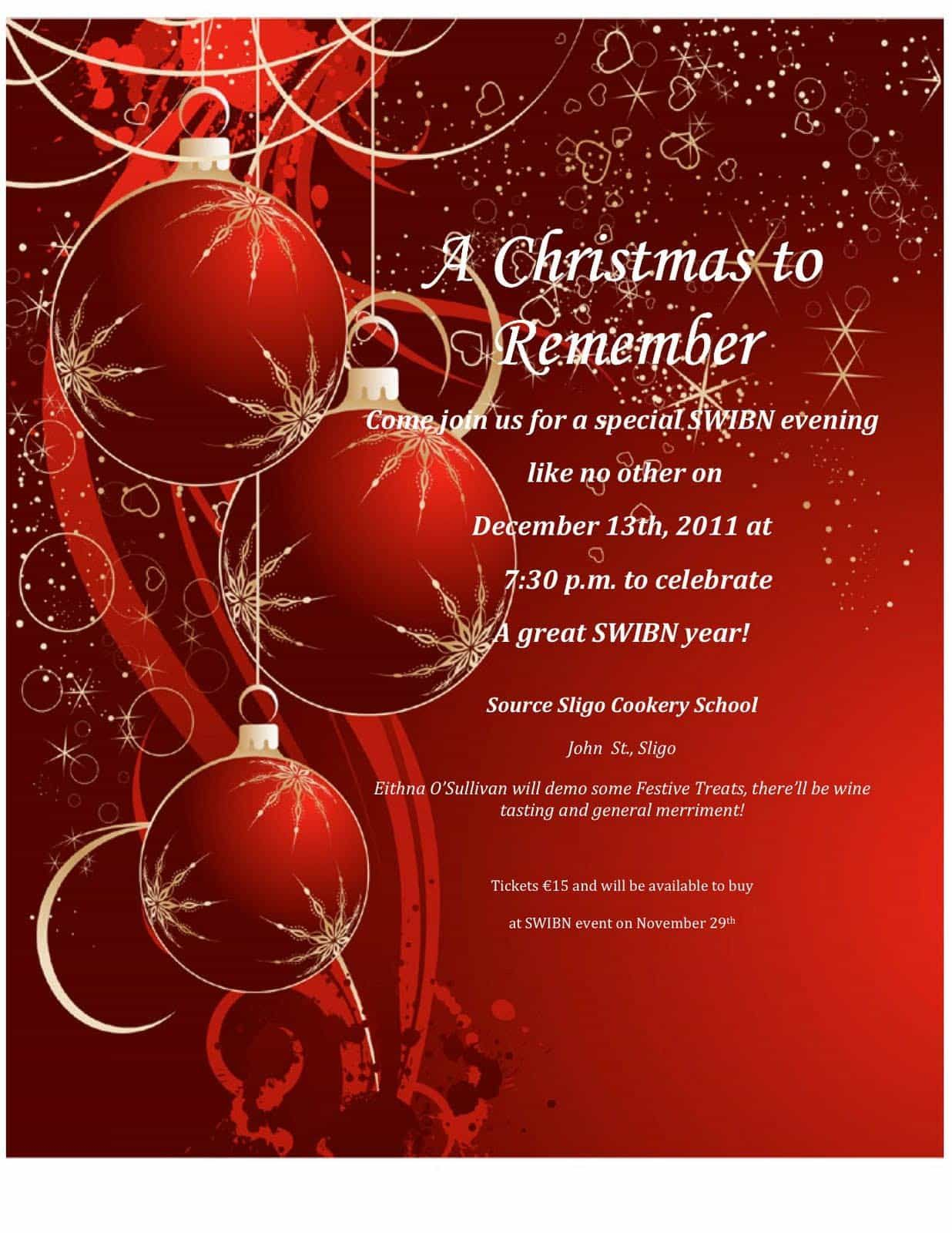 Awesome Free Christmas Party Invitation Templates Designs