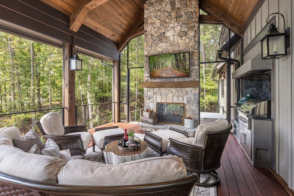 16 Marvelous Rustic Porch Ideas For Your Dream Home #rusticporchideas