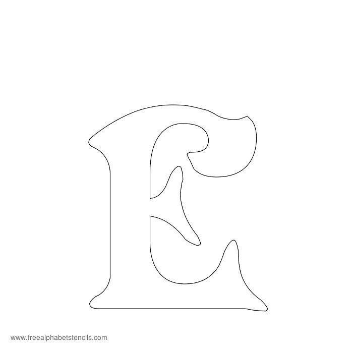 decorative alphabet stencil e
