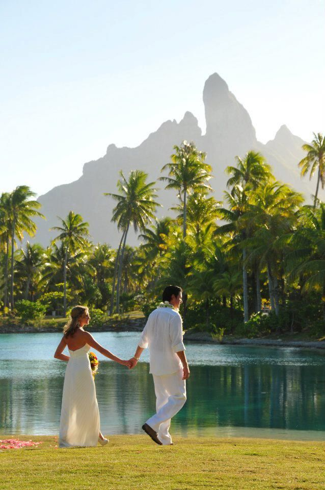 Wedding Picture From The St Regis Bora Perfect Backdrop For A
