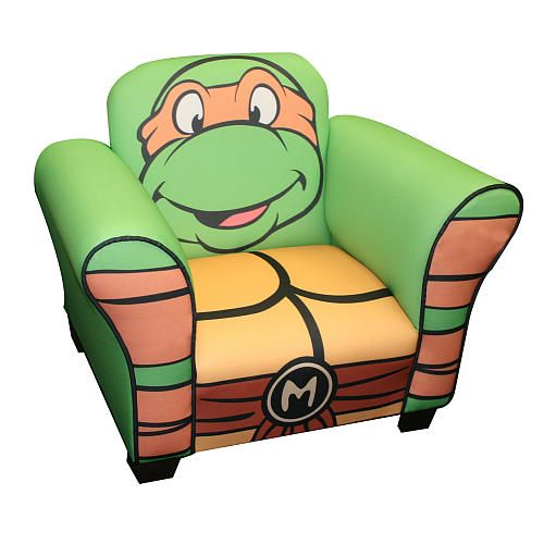 ninja turtle chair toys r us toddler and ottoman teenage mutant turtles retro upholstered michelangelo new corp