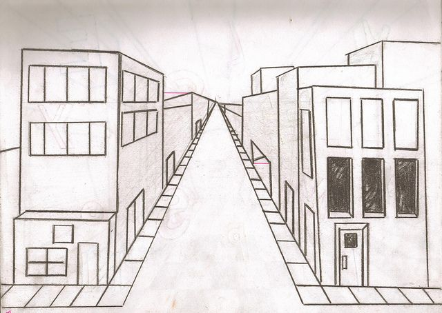 City Of Nothing City One Point Perspective Photo Sharing