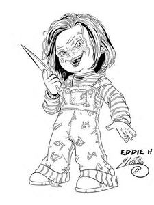 Image Result For Horror Coloring Pages Films Annabelle Disegni Idee Creativo
