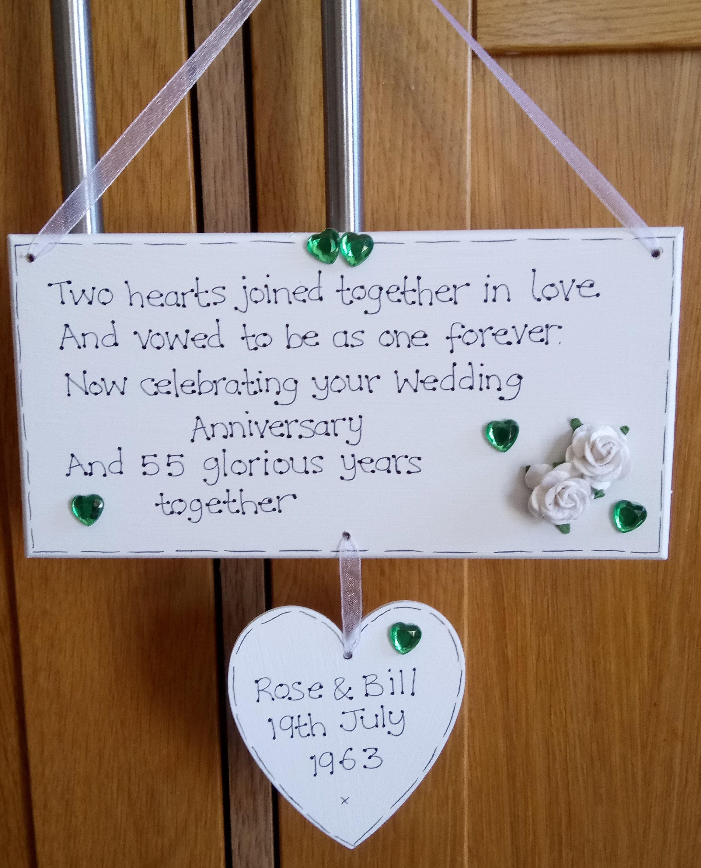 Personalised 55th Wedding Anniversary Emerald Wedding Anniversary Years Married 55th Wedding Anniversary 65th Wedding Anniversary Emerald Wedding Anniversary