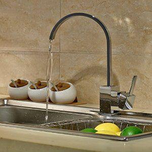 Low Pressure 360 Swivel Rotating Chrome Kitchen Basin Mixer Tap U