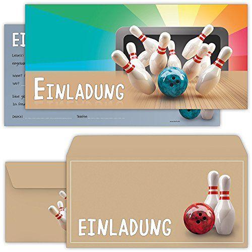 bowling bzw kegel einladungskarten zum kindergeburtstag