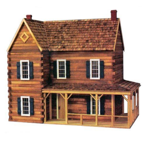 Real Good Toys Ponderosa Dollhouse Kit 1 Inch Scale List Price 523 19 Price 334 98 Dollhouse Kits Real Good Toys Cabin Dollhouse