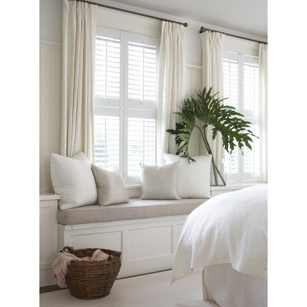 Home Decor Window Treatments: Combining Plantation Shutters With Curtains Liked On