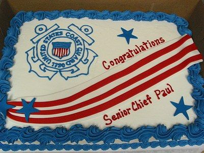 Military Coast Guard Emblem Cake Would Be A Great Sheet Cake
