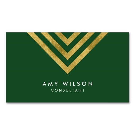 Elegant green faux gold geometric consultant business card elegant green faux gold geometric consultant business card reheart Gallery