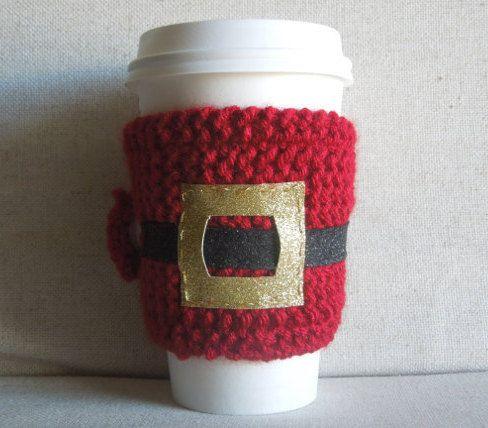 Christmas Coffee Cozy, Santa Cup Cozy, Holiday Coffee Sleeve, Winter ...