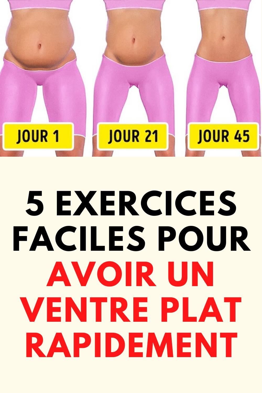 5 Exercices Faciles Pour Avoir un Ventre Plat Rapidement ...