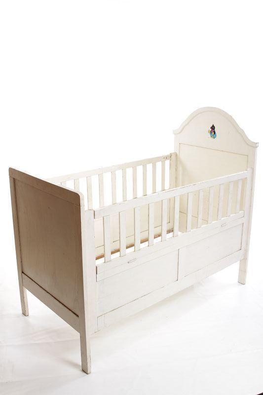 Einfache Dekoration Und Mobel Schoene Und Verspielte Kinderbetten #28: Schönes Altes Holz Beistellbett, Kinderbett, Bett, Babybett Weiß | EBay