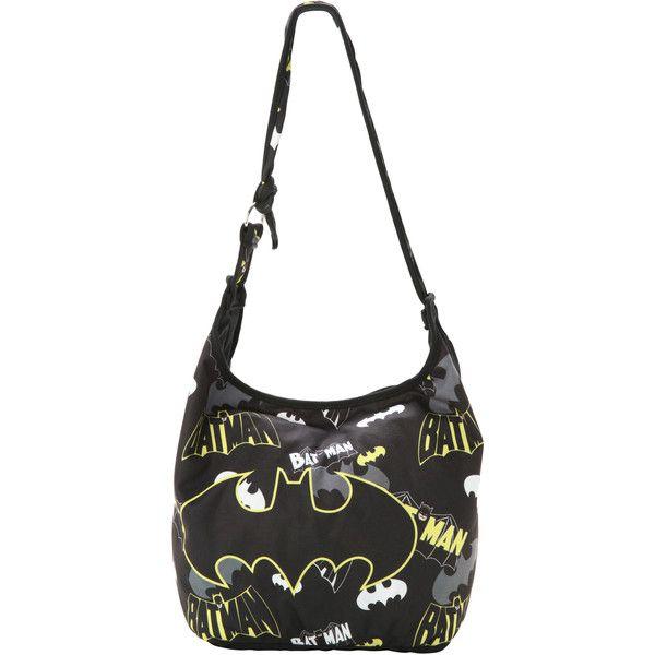 Dc Comics Batman Logo Collage Hobo Bag Hot Topic 13 Liked On