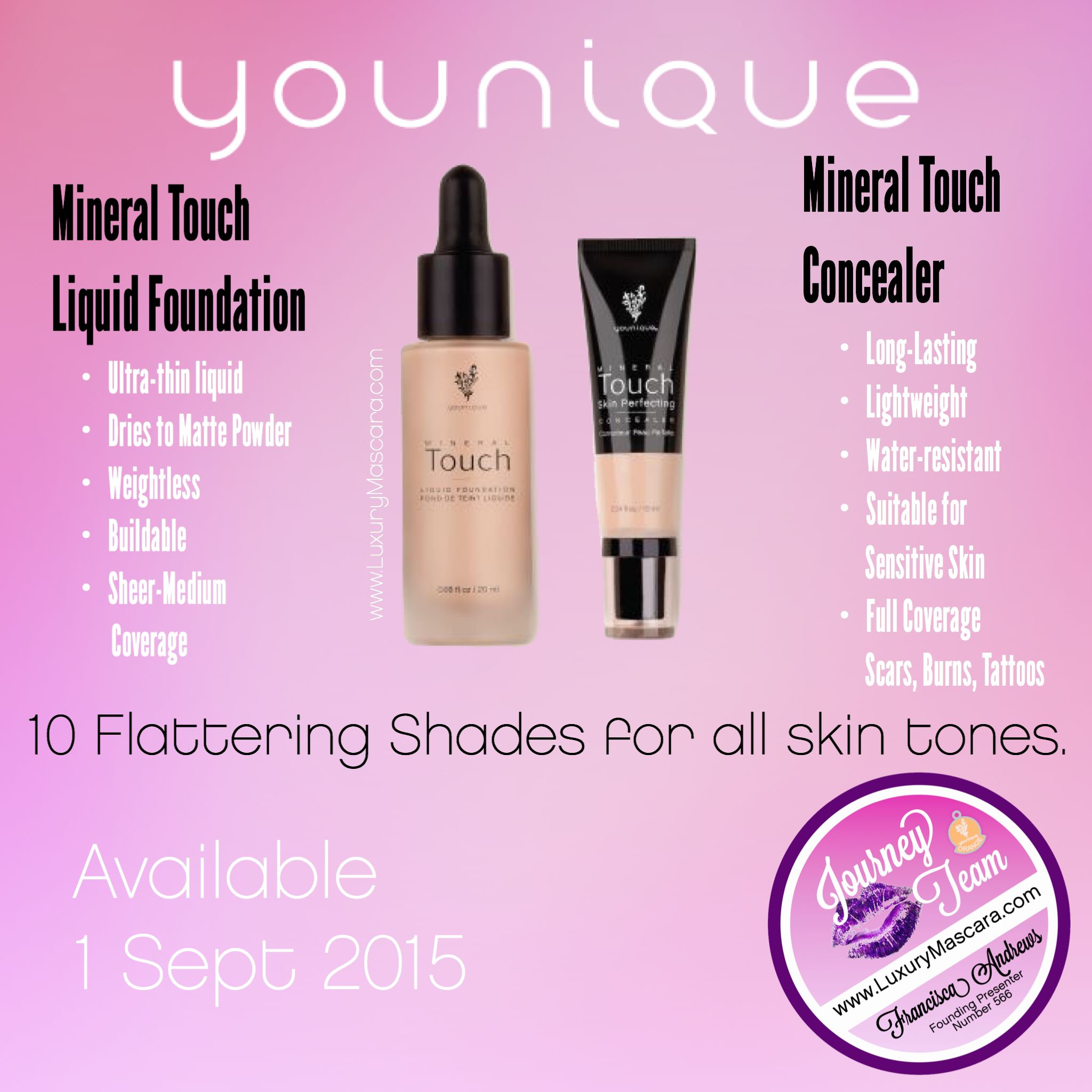 Available September 1st Introducing The Younique Mineral