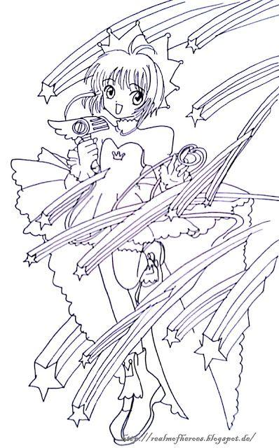 card captor sakura artbook coloring page - Cardcaptor Sakura Coloring Pages