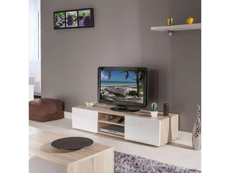 Meuble Tv 2 Niches 2 Tiroirs 541786 Meuble Tv Deco Maison Vente Meuble