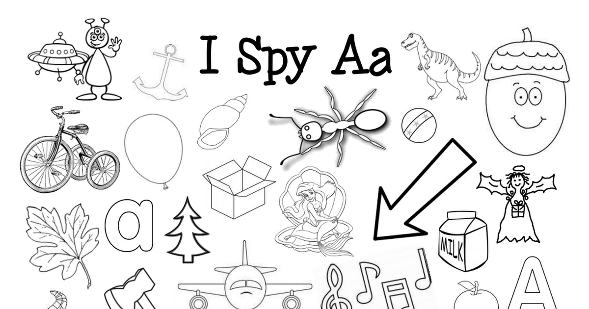 I Spy Letter Sound Coloring Pagespdf