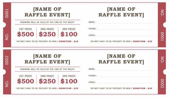 benefit ticket template