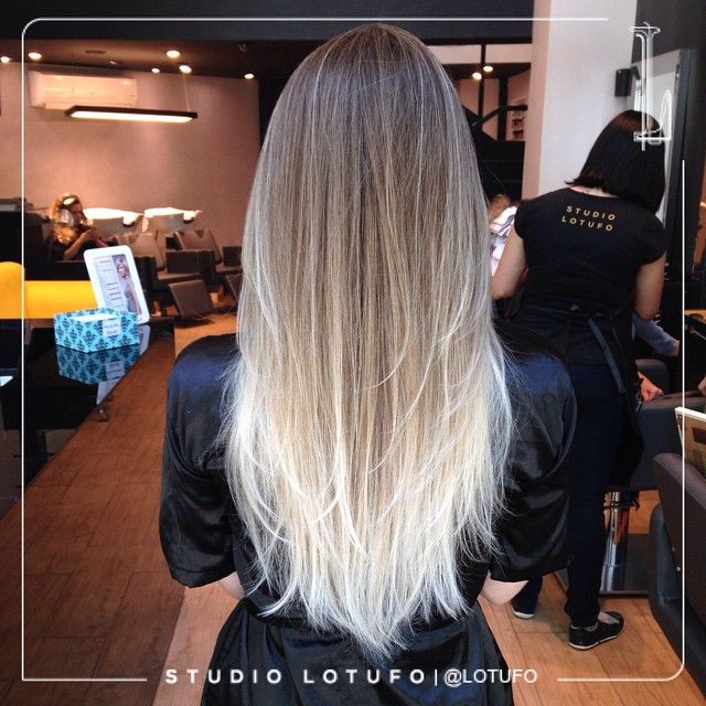 Blond Hair Mechas Luzes Californianas Obrem Hair Transformação