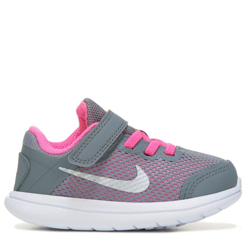 Kids Nike Flex Run 2016 Running Shoe Toddler GreyWhite