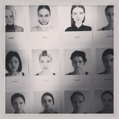 Model mania at @HelmutLang - amazing cast by @angusctmunro #models #fashion #nyfw