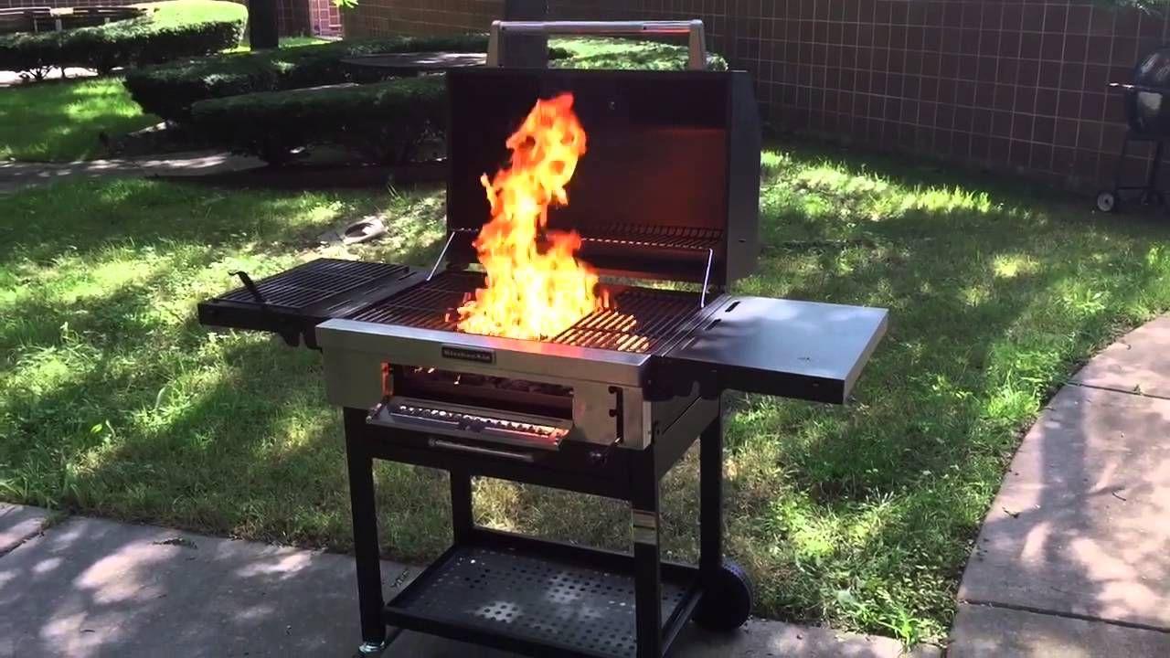 Kitchenaid charcoal grill seasoning review part 1
