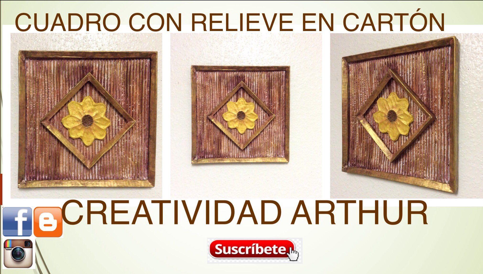 "Creatividad arthur on Twitter: ""Si te gustan los cuadros , vamos a ver el paso a paso cuadro con relieve en cartón 😀👍 https://t.co/dsh2W9FPsQ https://t.co/ZJY0OPi3MW"""