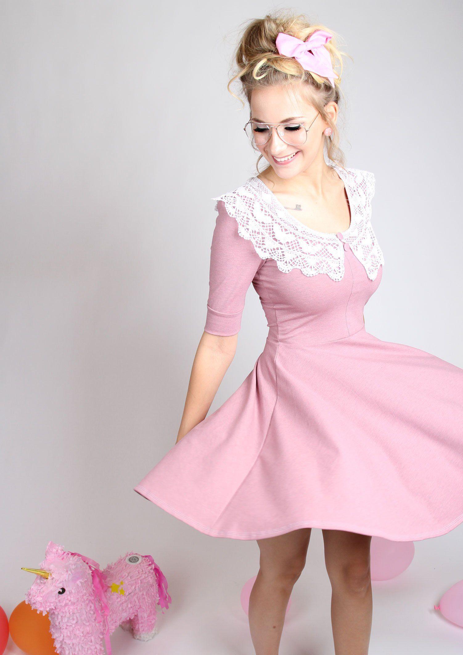 Ahnliche Artikel Wie Meko Grany Kleid Altrosa Damen Kragen Tanzkleid Auf Etsy Collars For Women Dance Dresses Perfect Dress
