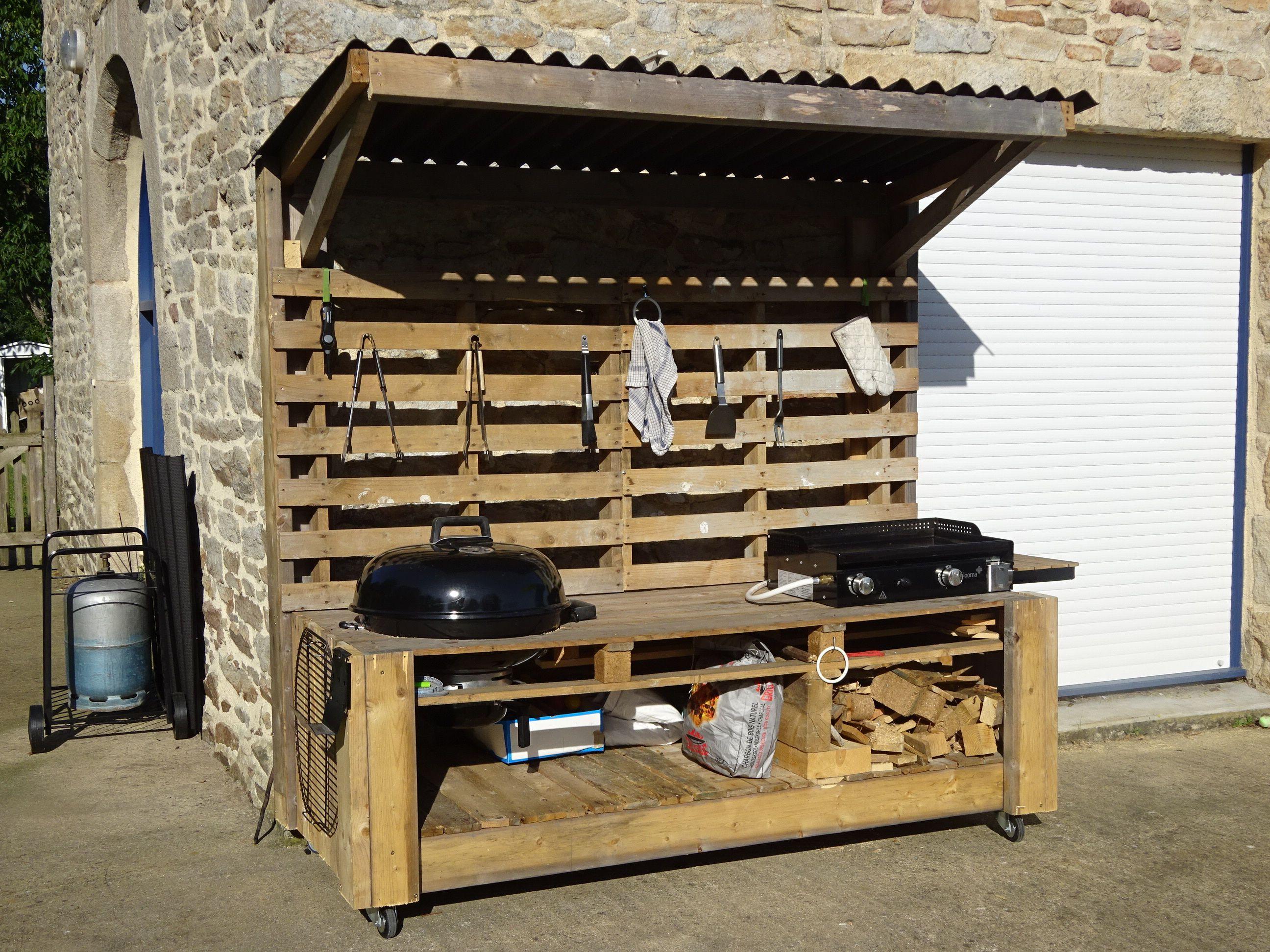 7 une cuisine ext rieure vous pouvez galement fabriquer une v ritable cuisine ext rieure avec - Meuble cuisine en palette ...
