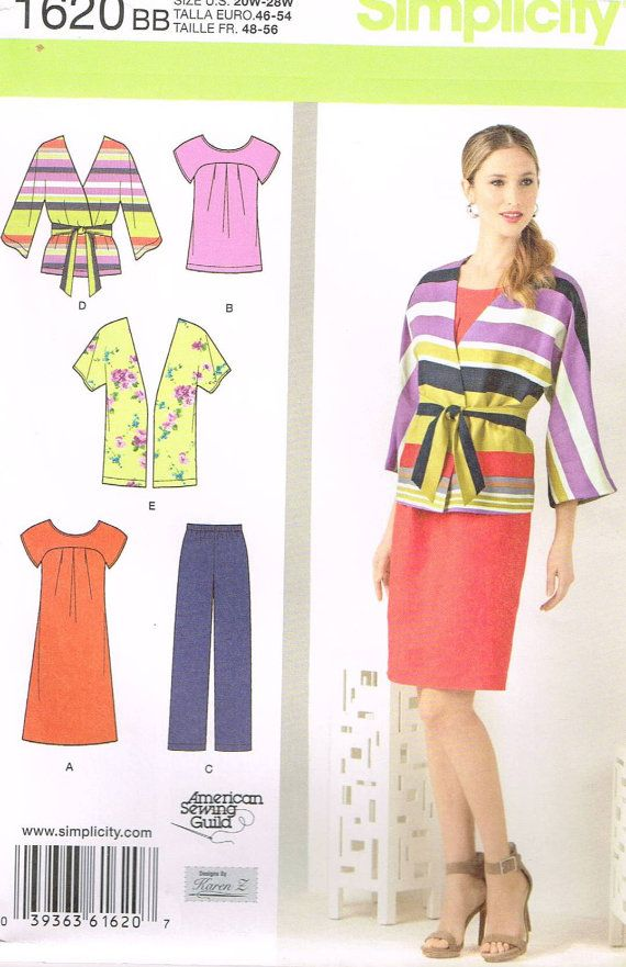 Simplicity 1920, Sewing Pattern, Supplies, Women\'s Top, Cardigan ...